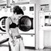 En attendant à la laverie